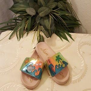 Sam Edelman Tropical Beach Pool Sandals Sz 3